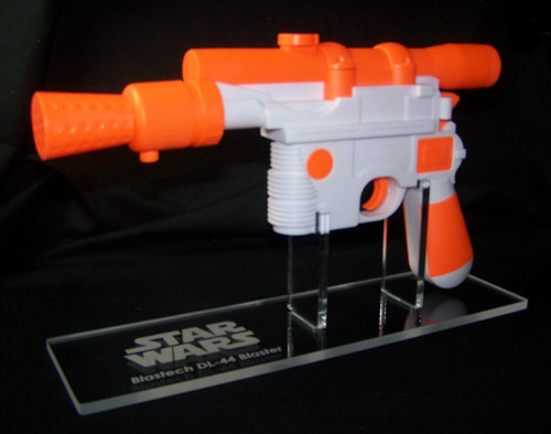 acrylic display stand for Rubies Han Solo blaster