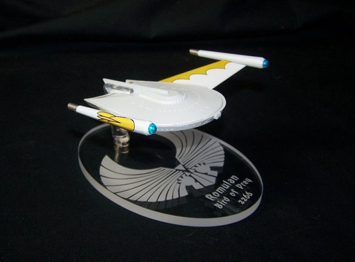 replacement base for the Eaglemoss Romulan Bird of Prey