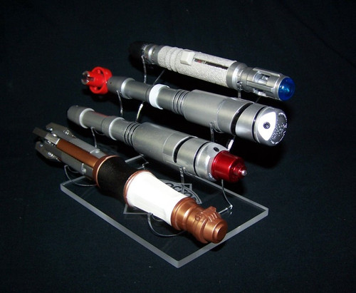 Dr Who 4 tier sonic screwdriver display stand