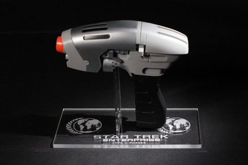 acrylic display stand for Diamond Select Enterprise Phase Pistol