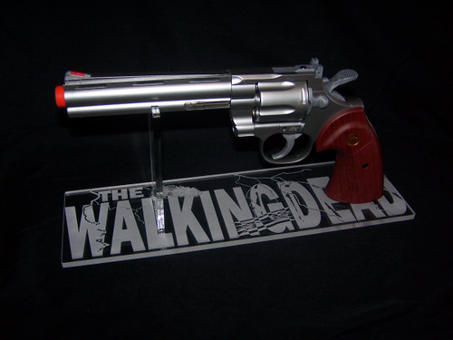 acrylic display stand for the Walking Dead Rick Grimes 357 Magnum.