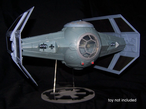 acrylic display stand for the POTF Darth Vader Tie Fighter from Hasbro