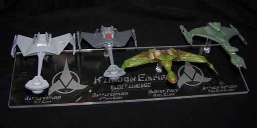 Eaglemoss Klingon Ship Lineage base