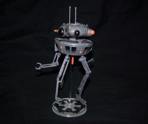 acrylic display stand for the Hasbro POTF Imperial Probe Droid