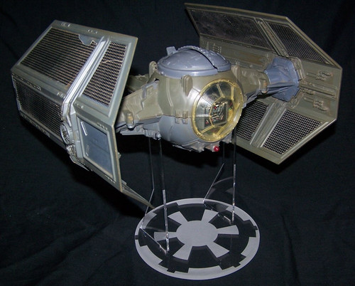 acrylic display stand for vintage Darth Vader Tie Fighter from Star Wars