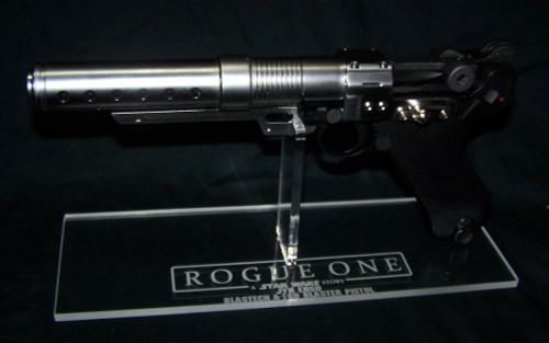 acrylic display stand for the Evike A-180 Jyn Erso blaster pistol