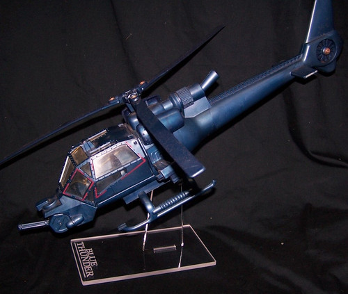Blue Thunder helicopter display stand