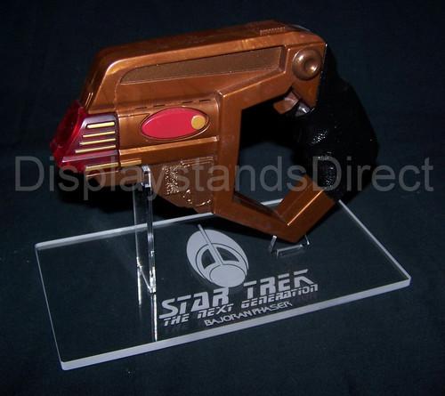 Playmates Bajoran Phaser display stand