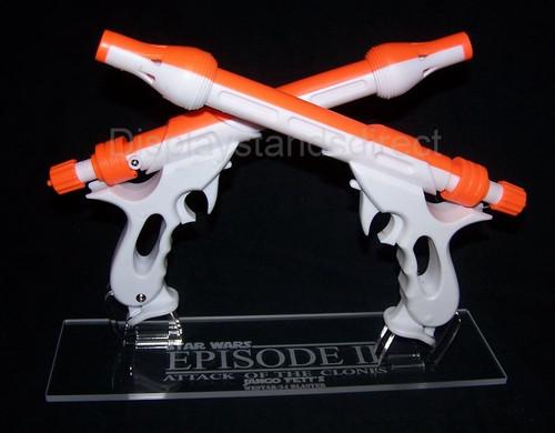 acrylic display stand for Rubies Jango Fett blaster