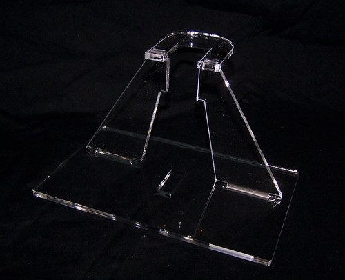 acrylic display stand for the Kenner/Hasbro Bwing fighter from Star Wars