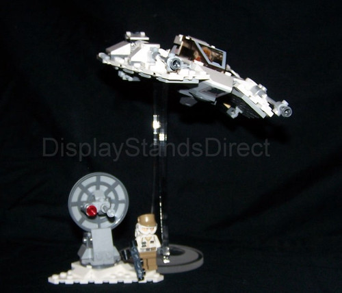 acrylic display stand for the Lego Star Wars Snowspeeder set #75259
