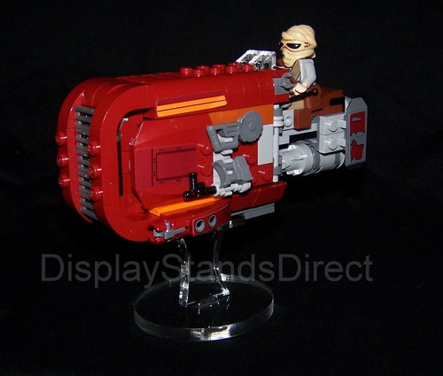 acrylic display stand for Lego Star Wars Rey speeder 75099