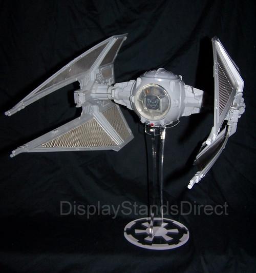 acrylic display stand for Kenner vintage Star Wars Tie Fighter & Interceptor