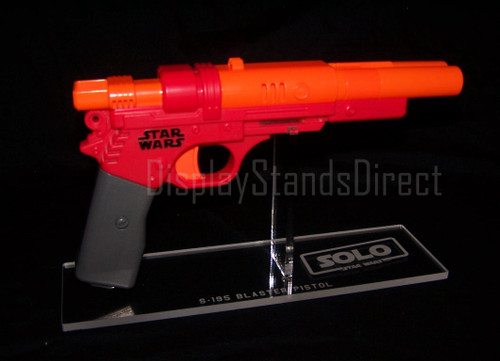 acrylic display stand for Nerf Qi-Ra S-195 blaster pistol from Star Wars