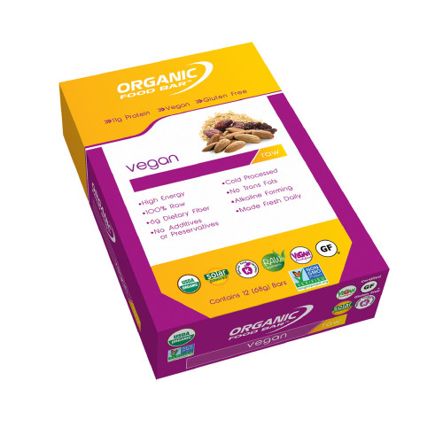 Organic Food Bar - Vegan - Box of 12