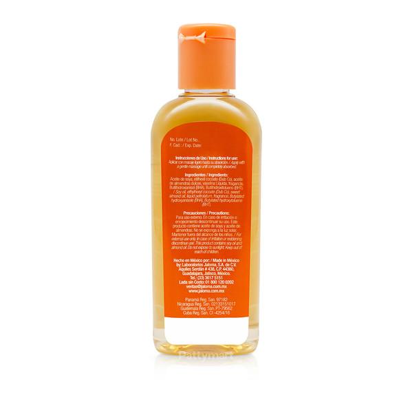 Aceite Almendras Jaloma 4oz (tapa naranja)_Back