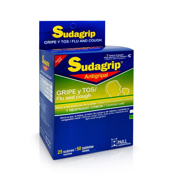 Sudagrip Antigripal Gripa y Tos Display 25 X 2