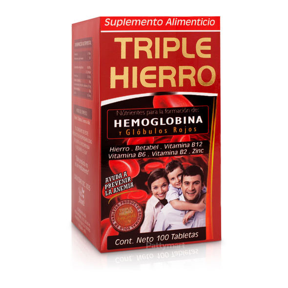 Triple Hierro X 100 Tabs