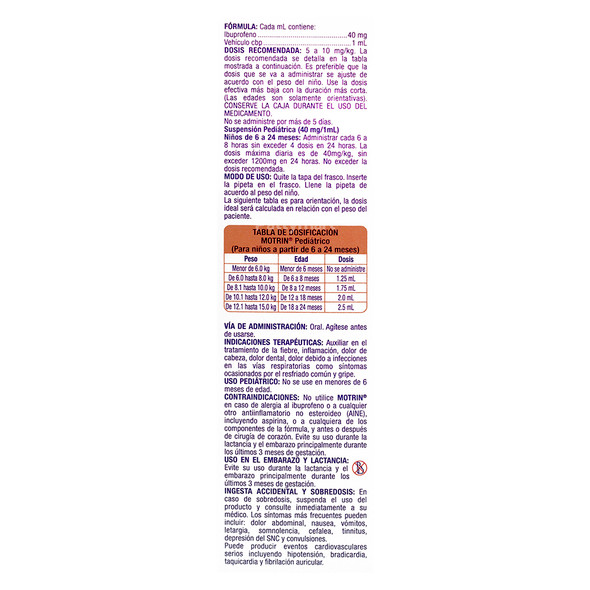 MOTRIN PEDIATRICO MX 15 ML