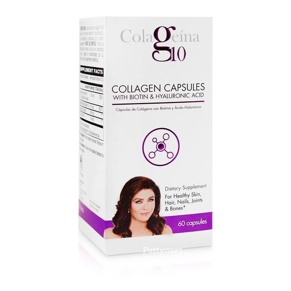 Colageina 10 Con Acido Hialuronico 60 Caps