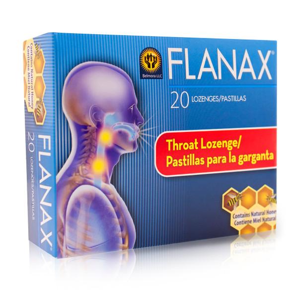 Flanax Cough Throat lozenge / Pastillas Para Aliviar la Tos x 20 ct
