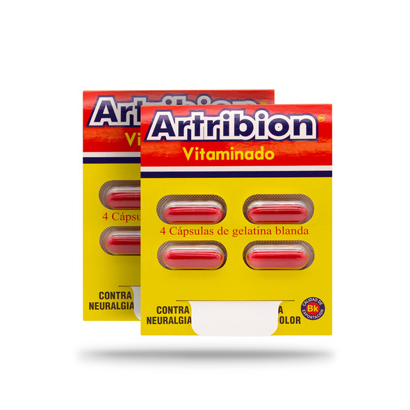 2 pack of artribion vitaminado sobre x 4 caps
