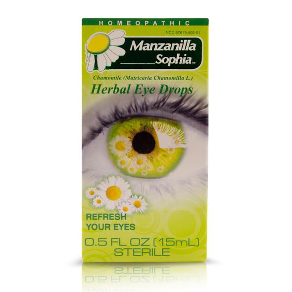 Sophia Manzanilla Herbal Eye Drops_Box_Caja