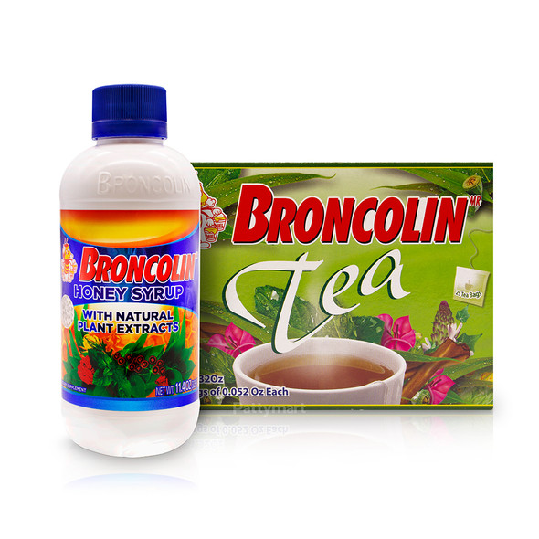 Set Broncolin Honey Syrup with Natural Plant Extracts + Broncolin Tea - 25 bags