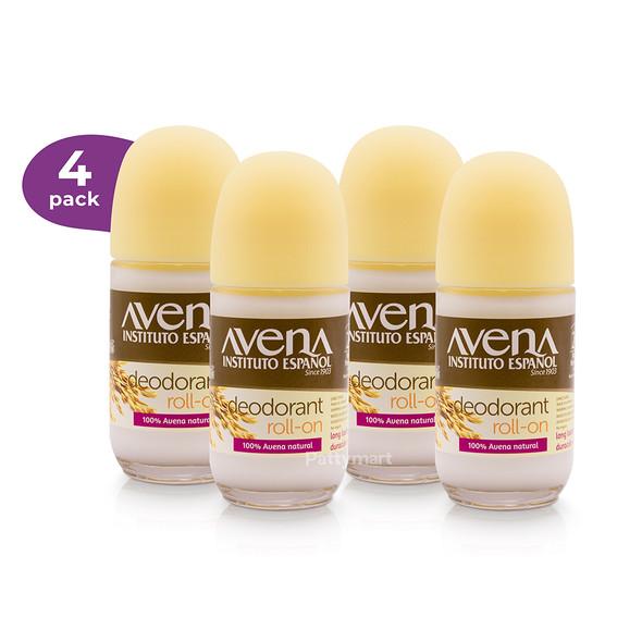 4 Desodorante avena Roll on 2.5 oz