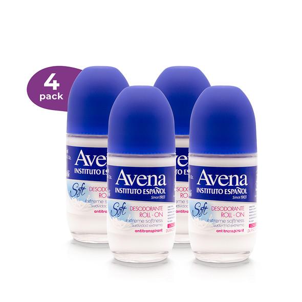 4 Pack Desodorante avena - leche