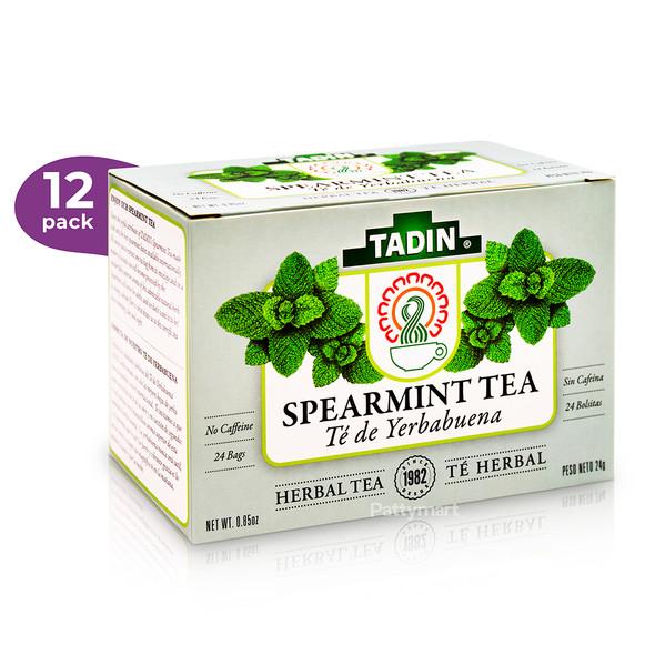 12 Pack Te Yerbabuena/Tea Spearmint Herbal TADIN - 24 bags