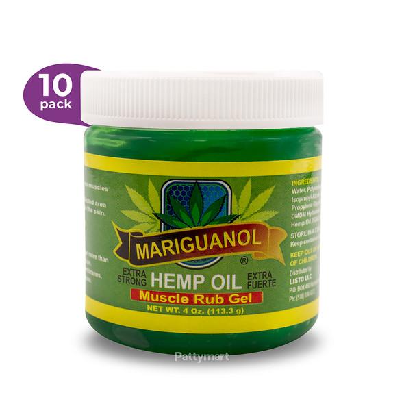 10 Pack Mariguanol Oil Muscle Rub Gel 4oz