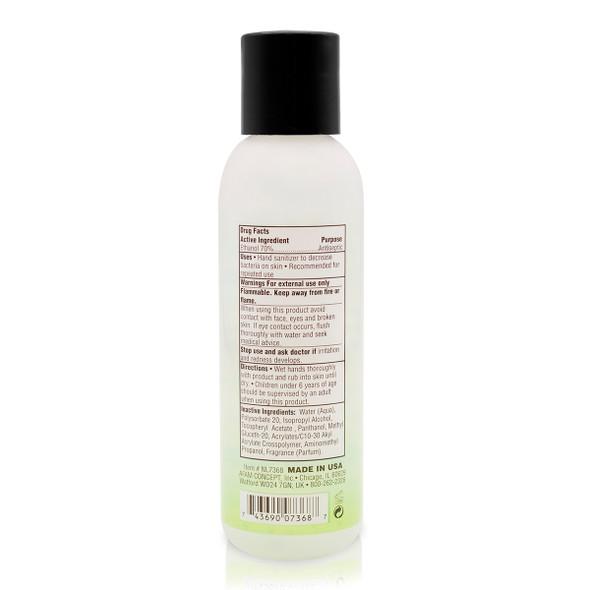 New Life hand sanitizer 3.8 oz_Back