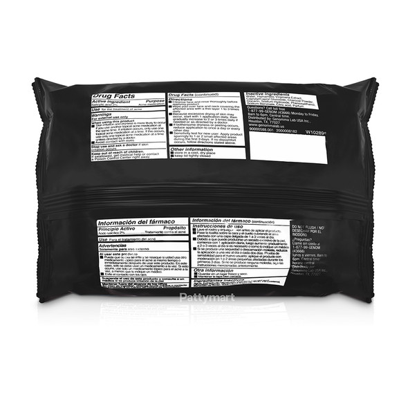 Asepxia Charcoal Wipes 20 Ct