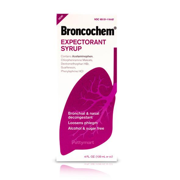 Broncochem Expectorant Syrup 4 oz_Box_Caja