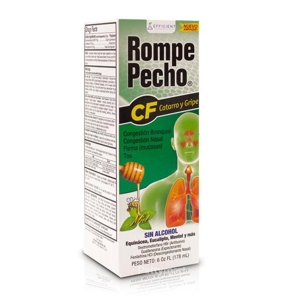 Rompe Pecho CF Cold & Flu Syrup 6 oz_Box_Caja