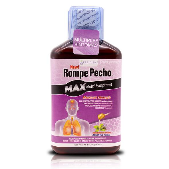 Rompe Pecho MAX MultiSymptoms 8 oz_Front