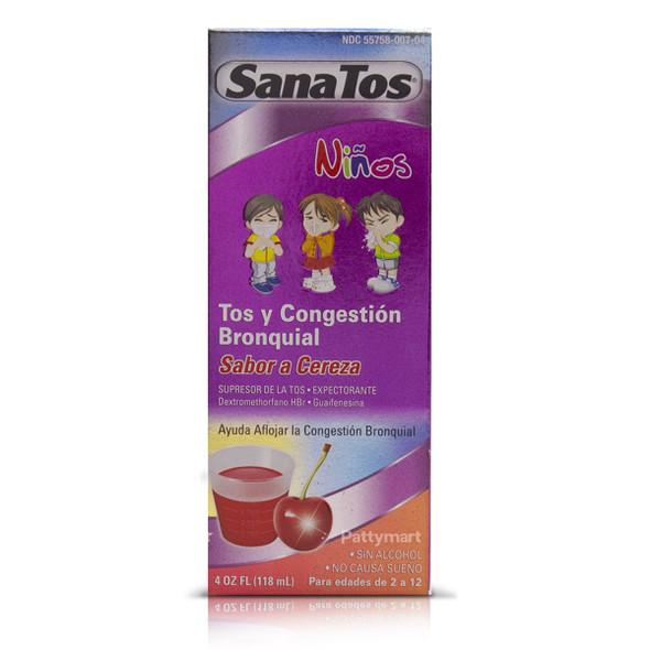 Sanatos Children Cough & Chest Congestion 4oz (118ml)