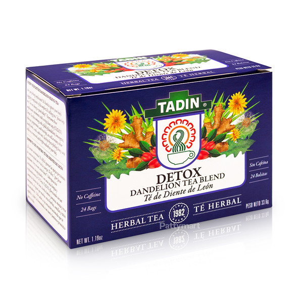 Detox Tea - Te de Diente de Leon TADIN - 24 bags_Box_Caja