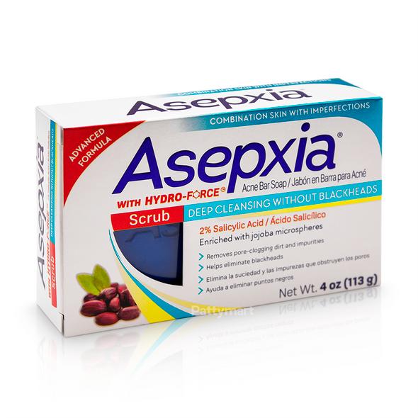 Asepxia Scrub Acne Bar Soap / Jabon Limpieza Profunda para Acne 4 oz