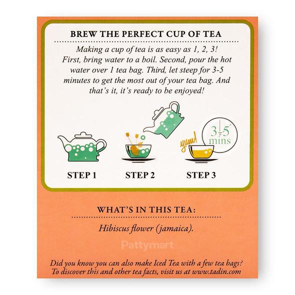 Te Jamaica/ Hibiscus Tea Blend TADIN_Facts