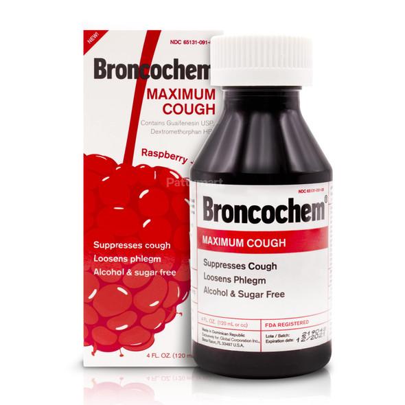 Broncochem Maximun Cough Syrup 4 oz_Box&Jar