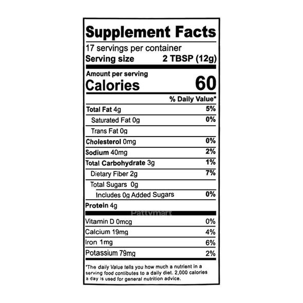 Milled Flax Seed Turmeric Chai TADIN - bag 7 oz_Facts