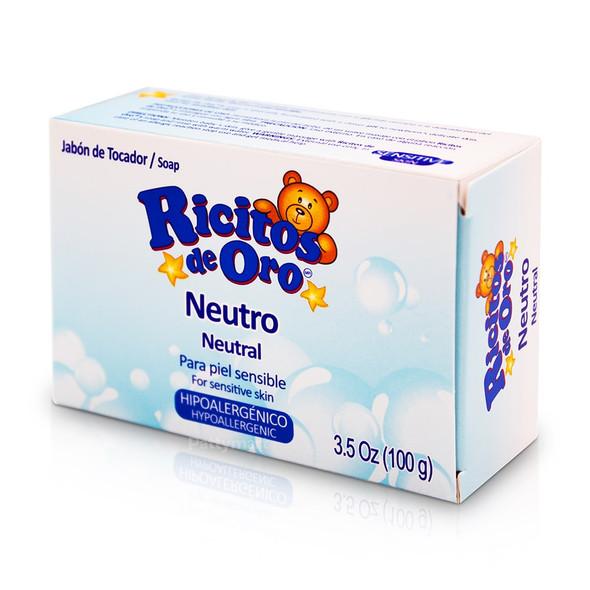 Neutral Soap for Sensitive Skin 3.5oz (100g) / Jabon Ricitos de Oro Neutro 3.5oz (100g)