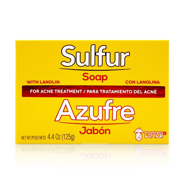 Jabon Bio Sulfur (Azufre) GRISI 4.4 oz_Box_Caja