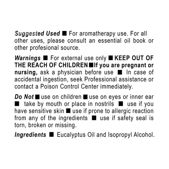 Aceite de Eucalipto 1.7 oz GERMA_Facts