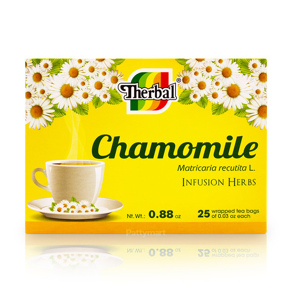 Tea Manzanilla Therbal 25 bags_BoxFront_CajaFrontal