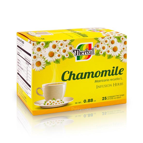 Tea Manzanilla Therbal 25 bags_Box_Caja