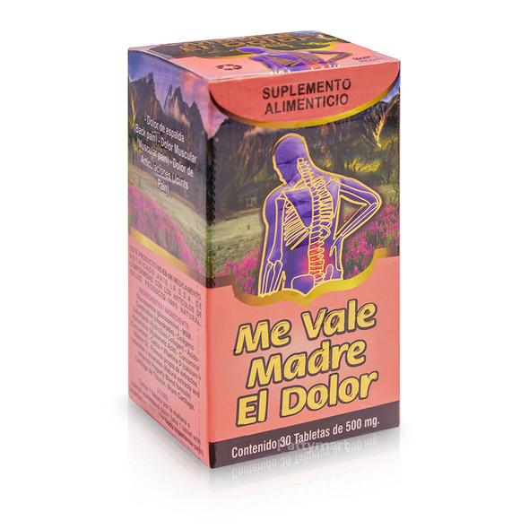 Me Vale Madre El Dolor X 30 tabs_Box_Caja