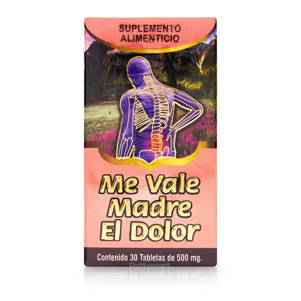 Me Vale Madre El Dolor X 30 tabs_BoxFront_CajaFrente